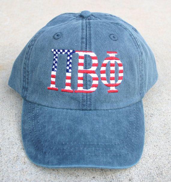 Pi Beta Phi American Flag Cap by MegaGreek on Etsy