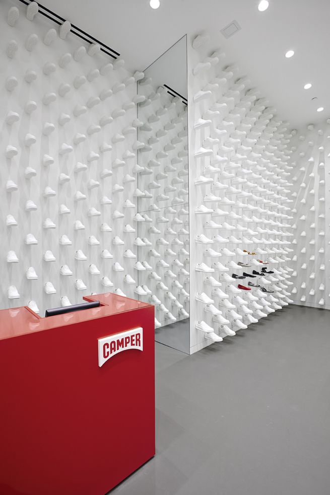 Camper New York | Shoe store design, Concept store, Retail