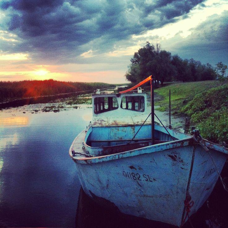 On a chanel near Letea village, Danube delta - time stands still