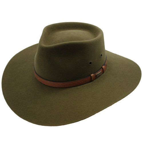 Akubra Territory Hat  Khaki  58 -- Details can be found by clicking on the image.