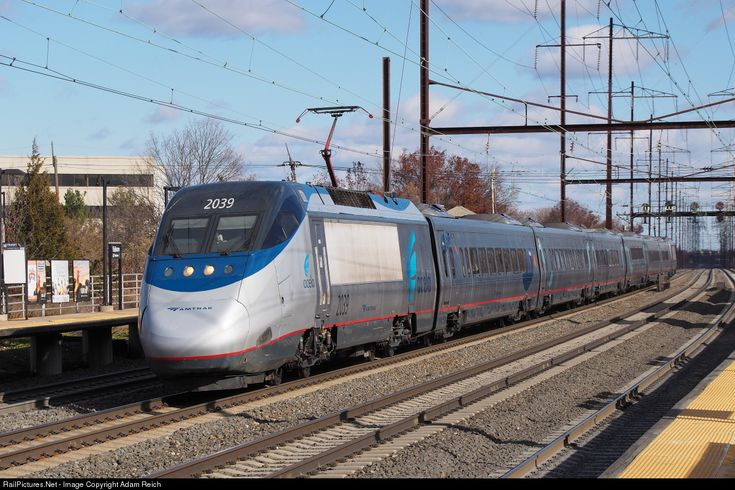 RailPictures.Net Photo: AMTK 2039 Amtrak Bombardier/Alstom Acela Express Trainset at Edison, New Jersey by Adam Reich