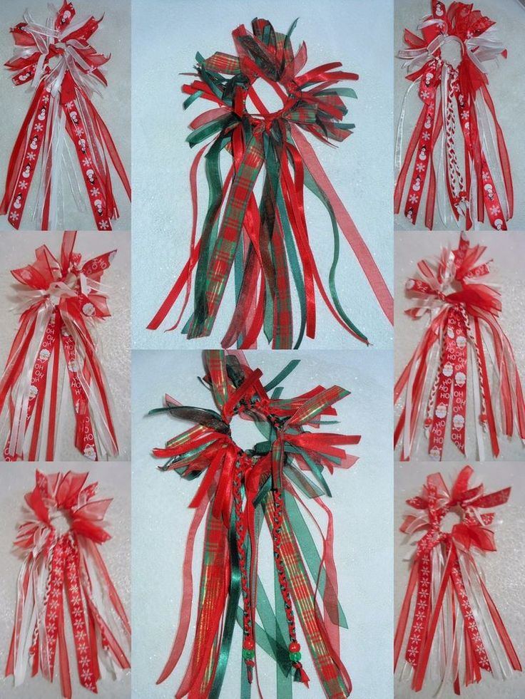 XMAS PARTY RED GIRLS LONG SATIN CHIFFON RIBBON SCRUNCHIE HAIR ACCESSORY  #HandmadebyBONNIEBOBBLES