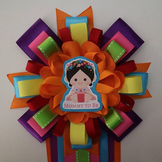 Fiesta Baby Girl Themed Mommy To Be Baby Shower Corsage
