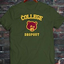 Kanye West Dope Yolo College Dropout Bear Mens Military Green T-Shirt