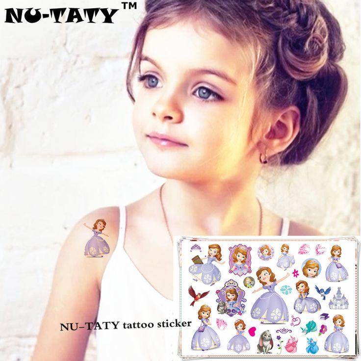 NU-TATY Princess Sofia The First Child Temporary Tattoo Body Art Flash Tattoo Stickers 17*10cm Waterproof Styling Tatoo Sticker