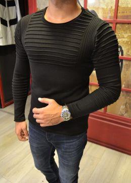 Tarz Erkek Yeni Sezon Siyah Sweatshirt