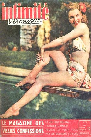 1947 August issue: Intimite Veronique French magazine cover, Marilyn Monroe  .... #marilynmonroe #normajeane #magazinecovers #raremagazine #pinup #iconic #1947 #IntimiteVeronique