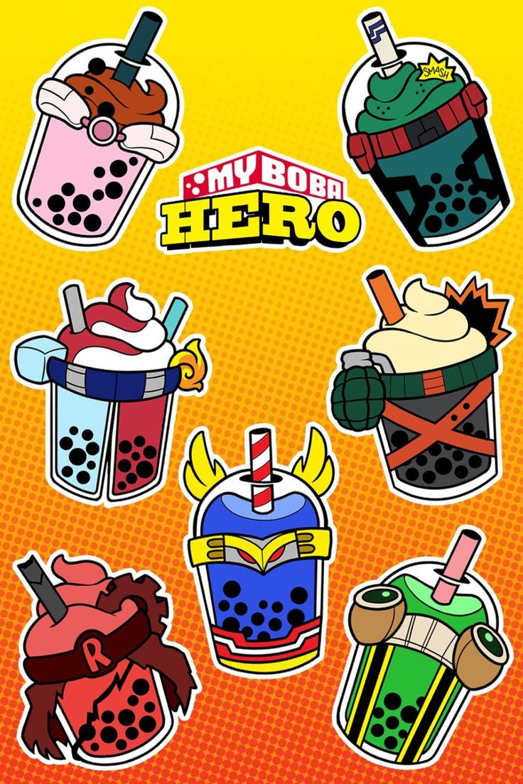 Hero drinks inspired by BNHA characters Hero, Latest