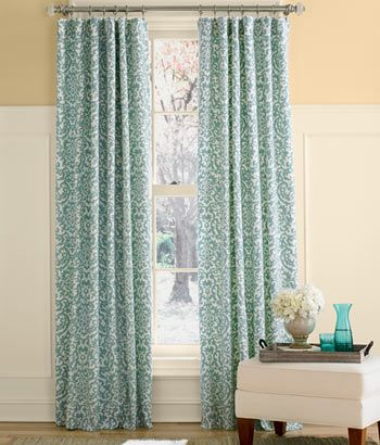 Woodblock Lined Rod Pocket Curtains