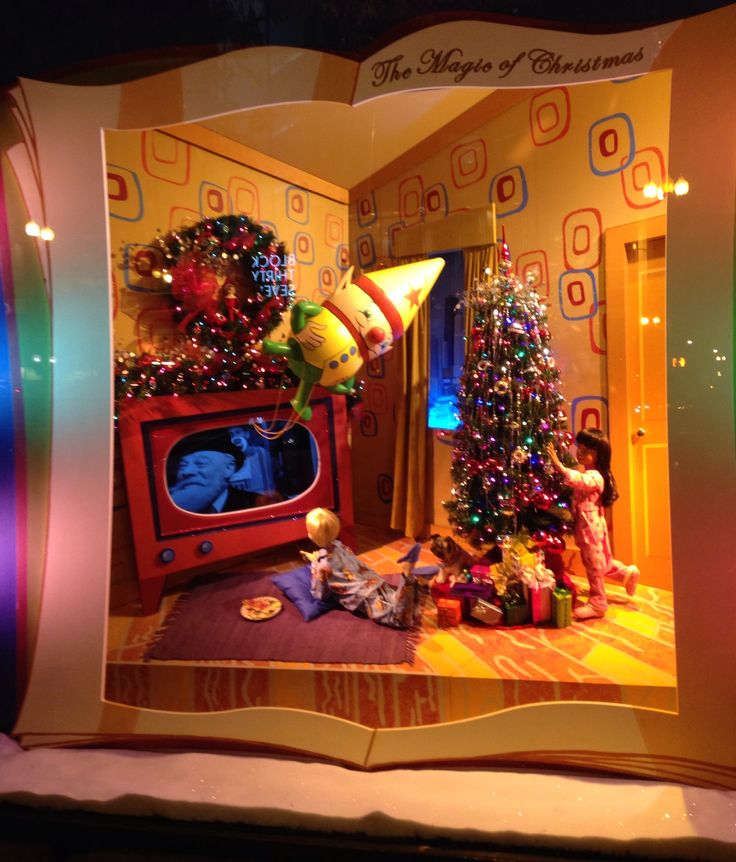 Marshall Fields State Street (now Macy's) Extra Fabulous window displays at Christmas