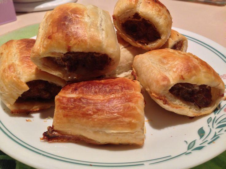 Home made sausage rolls