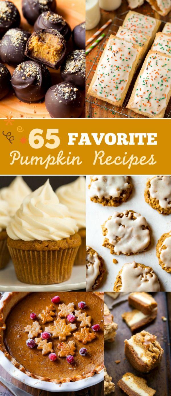 Here are 65+ pumpkin recipes to celebrate Fall this year! sallysbakingaddiction.com