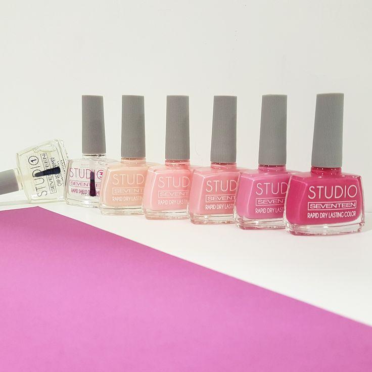 On Mondays we wear pink!  #seventeencosmetics #studio #manicure #manimonday #mani #manicuresystem #pinknails #nails #naillacquer #nailpolish