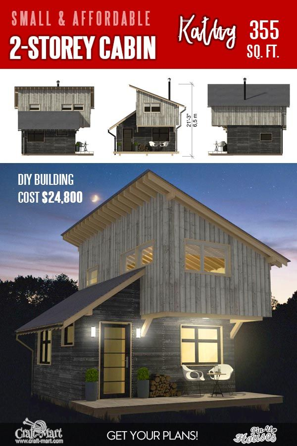 13 Best Small Cabin Plans With Cost To Build Craft Mart In 2020 Small Cabin Plans Cabin Plans Small Cabin