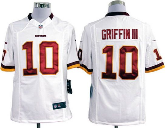 Nike Redskins #10 Robert Griffin III White Mens NFL Game Jersey