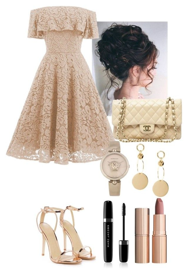 """""""A little princess"""" by utkonos on Polyvore featuring Nasty Gal, Chanel, Versace, Marc Jacobs and Charlotte Tilbury"""