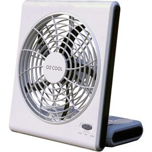 """O2 Cool 8"""" Battery or Electric Portable Fan. I WILL have at least one of these before the next hurricane."""