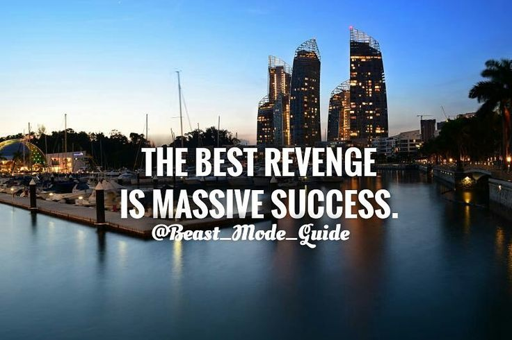 Sucess is the Best Revenge for anything! @Beast_Mode_Guide