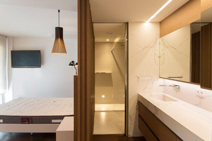 Dormitorio Suite. Dúplex en Sabadell, Barcelona.