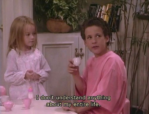 Boy Meets World and Words of wisdom...accept it and you'll be happy