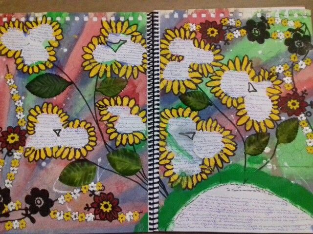 My first attempt at art journalling
