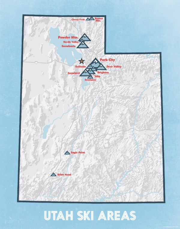 Best Utah Ski Resorts Ideas On Pinterest Park City Ski - Us ski resorts map