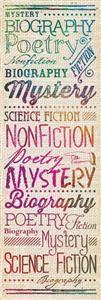 Retro Chic Literary Genres Bookmarks | Mardel
