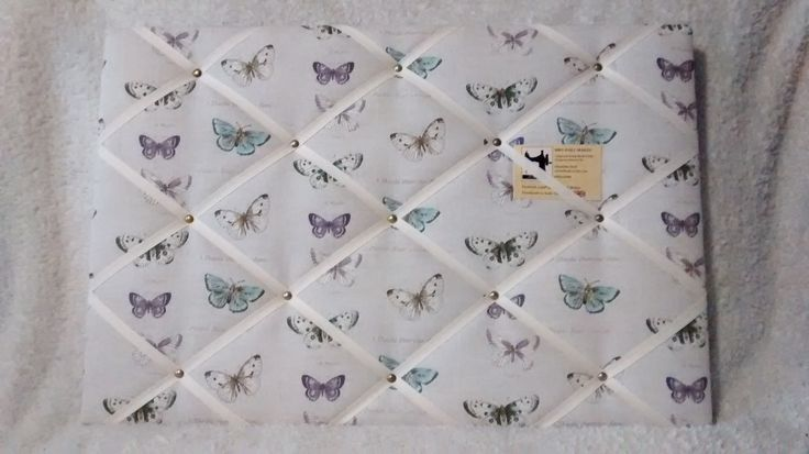 Butterflies Mauve Finished with cream ribbon & antique style pins.