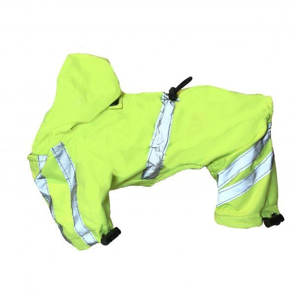 Gul hel regndress til små og mellomstore hunder