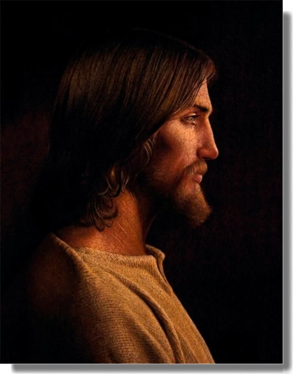 Painting of Christ. By Artist Chris Young.