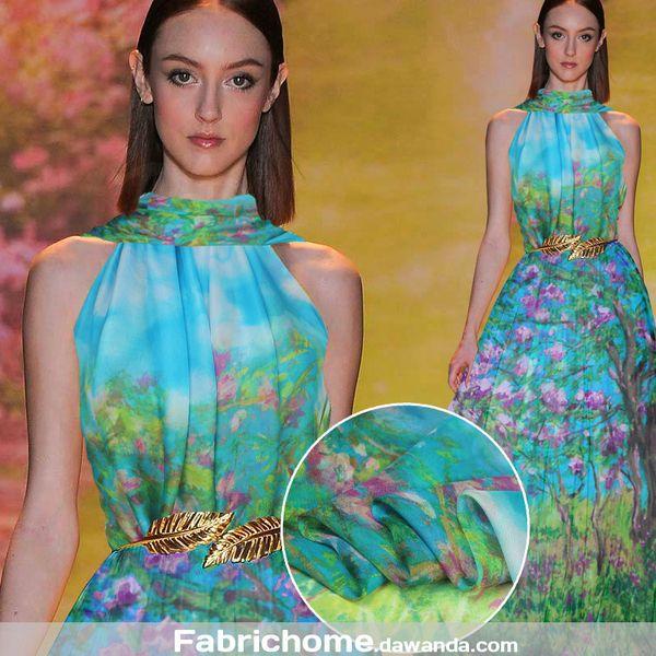 Chiffon,100% Seide,Stoff Blumen,Schöner Stoff,1M von Fabrichome auf DaWanda.com