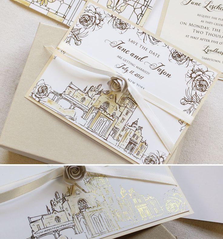 June L Glam Gatefold Wedding Invitations
