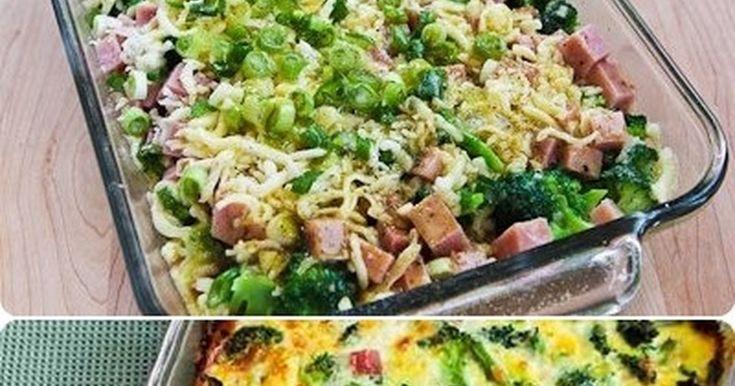 1 brokuł* pół kilo dowolnej szynki ( w jendym kawałku)* 2 jajka* starty ser żółty * sól, ew. przyprawyBrokuły umyć i lekko podgotować aby były jeszcze twarde. Szynkę pokroić w ...