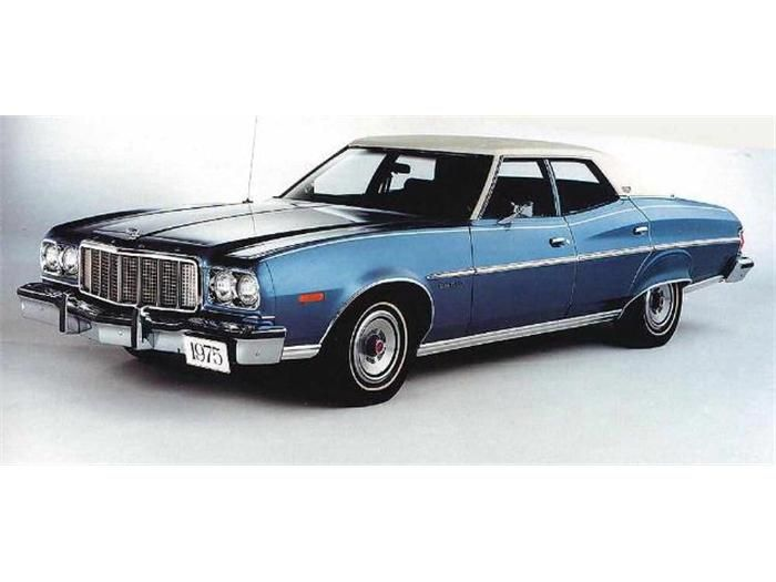 1975 ford gran torino four door sedan ford and lincoln. Black Bedroom Furniture Sets. Home Design Ideas