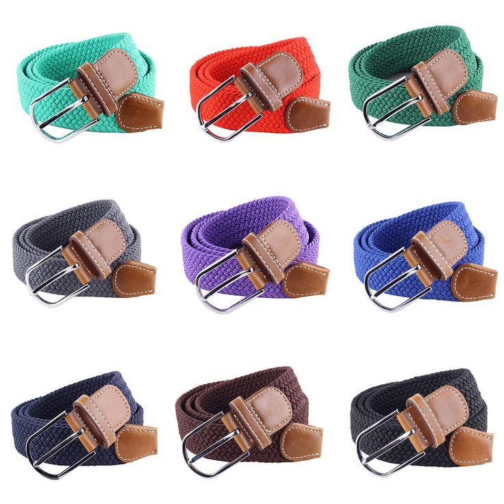 Hombres Cuero Trenzado Elástico Stretch cintura Cinturón Hebilla De Casual Golf transversal caliente | Ropa, calzado y accesorios, Accesorios para hombre, Cinturones | eBay!