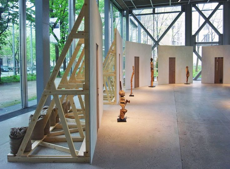 enzo mari: exhibition design for vodun african voodoo at the fondation cartier