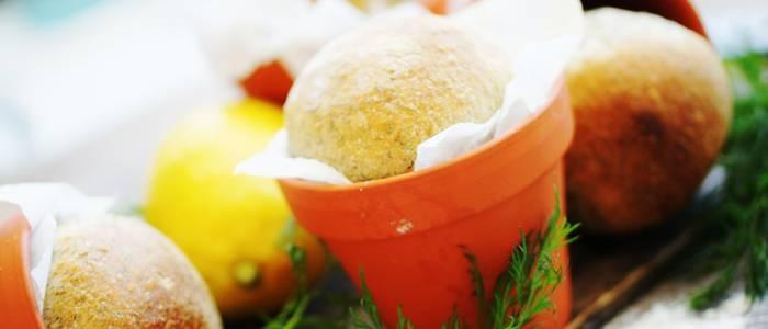 Krukbröd med dill och flingsalt - recept från Lantmannen.se
