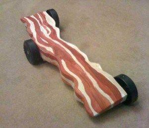 Bacon Pinewood Derby Car