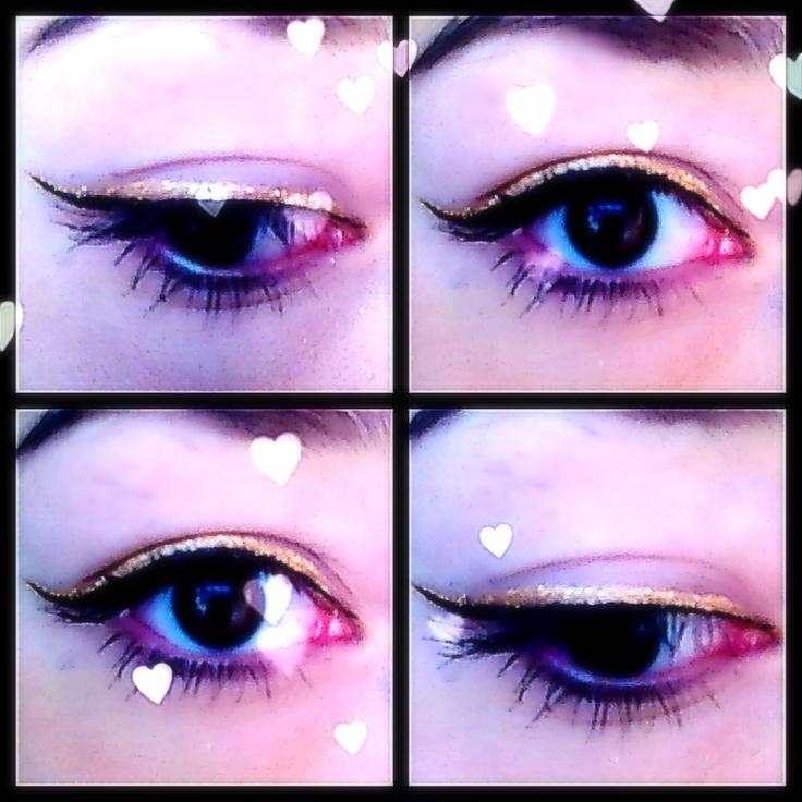 how to put on liquid eyeliner on top lid