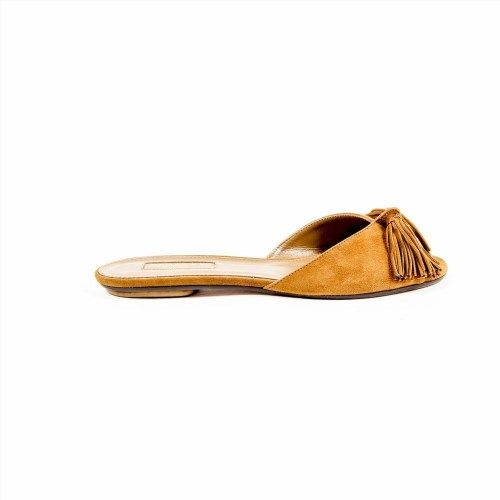 379.58$  Buy now - http://visqd.justgood.pw/vig/item.php?t=ffl4vdl29888 - Camel 36 EUR - 6 US Aquazzura Firenze Womens Flat Sandal WILFLAA0 SUE 884 379.58$
