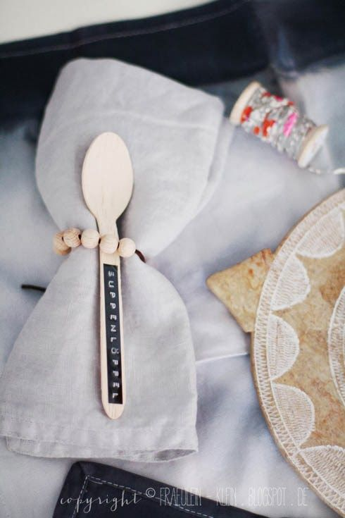 love the wooden beaded napkin ring