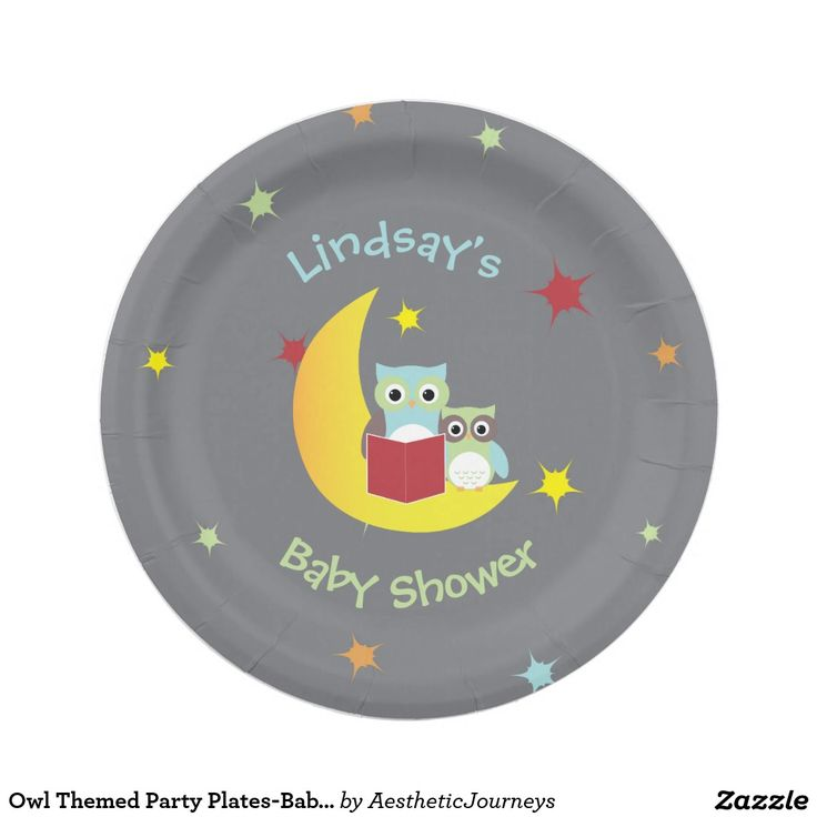 Owl Themed Party Plates-Baby Shower