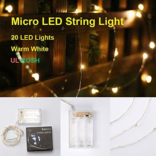 Best Indoor Led String Lights : LIDORE Micro 20 LED string lights. Best ambiance lighting for outdoor and indoor party ...