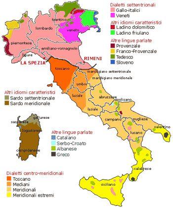 Lingua italiana e dialetti in Italia   #TuscanyAgriturismoGiratola