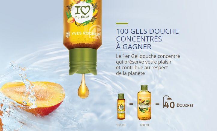 Yves Rocher : 100 gels douche concentrées et parfumés à gagner | Echantillons gratuits, réductions et cadeaux