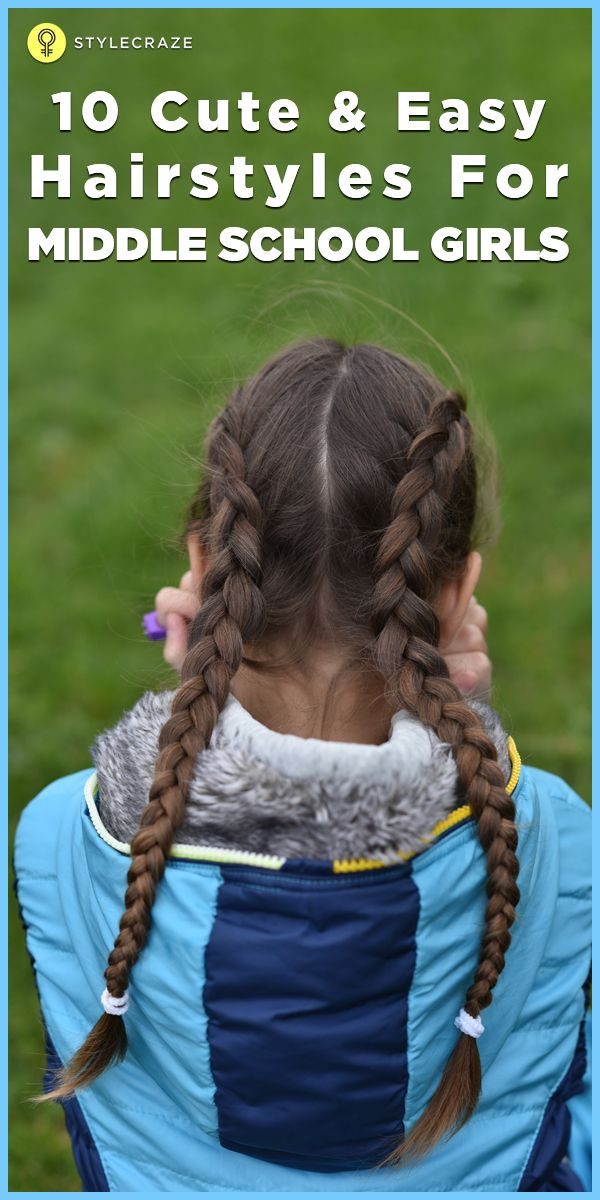 Cute Easy Hairstyles For School Dances : Best ideas about middle school hairstyles on