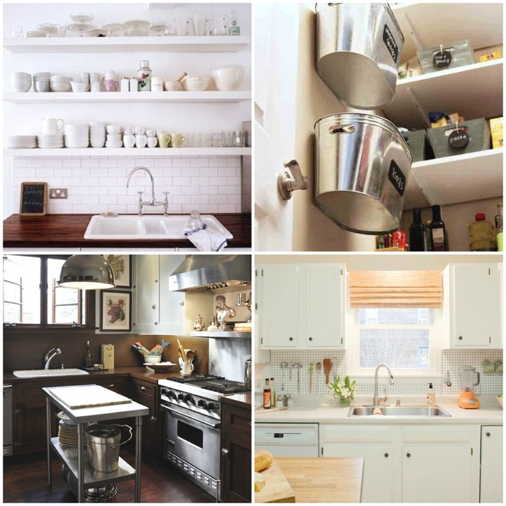 organizing & maximizing space in small kitchens - 12 tips on maximizing small spaces at lizmarieblog.com