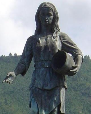 Escultura de la Princesa Dácil, La Orotava. Tenerife, Islas Canarias
