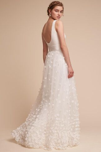 Mimi Gown in Ivory from BHLDN Anthropologie Bridal ~ affiliate.  ~ My second favorite! #AnthroFave #Bridal