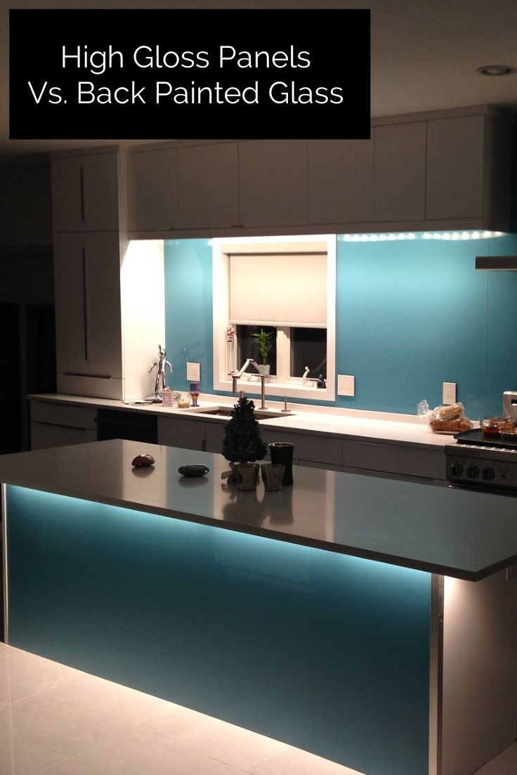 How To Compare Back Painted Color Coated Glass To High Gloss Acrylic Wall Panels